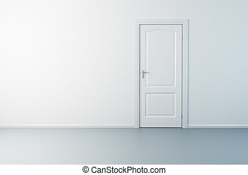 3d rendering the empty room with door