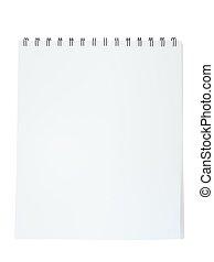 Empty notepad isolated on white