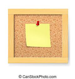 Empty notice wooden board