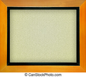 Empty office cork notice board isolated with wood frame