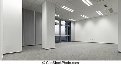 Empty white office ready to move in