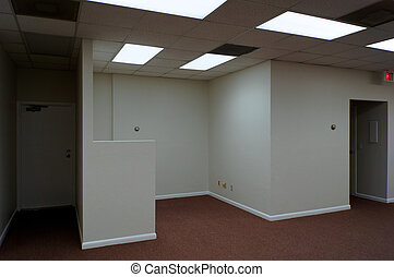 empty office space - carpeted office building interior...