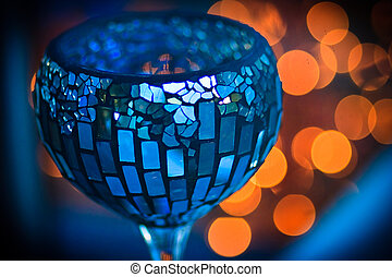 empty old cup on nice background