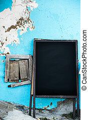 Empty old menuboard