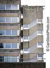 Empty old office block - Empty office block in British...