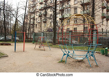 Empty old playground
