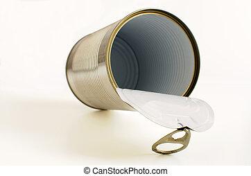 Empty open can