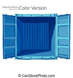 Empty open Container.