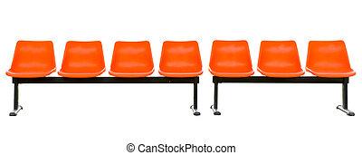 empty orange seats