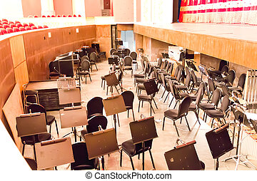 Empty orchestra pit in theatre - Photo of empty orchestra...