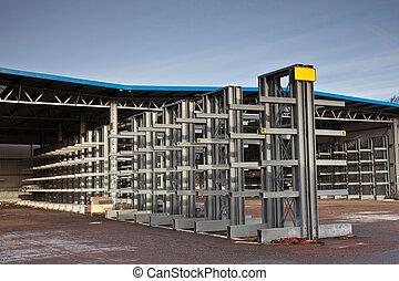 Empty outside warehouse
