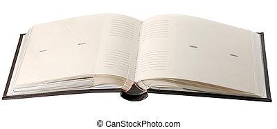 empty page open photo album