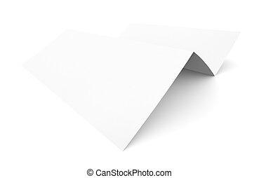 Empty paper booklet