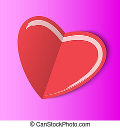 paper label with heart shape