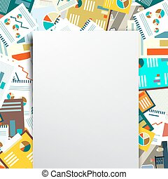 Empty Paper on Paperwork Background. Vector.