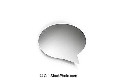 Empty paper speech bubble