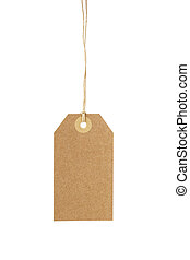 empty paper tag for sale or luggage