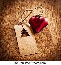 Empty Paper Tag sign with a decorative heart