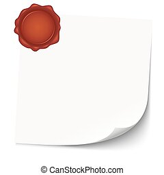 empty paper with wax seal