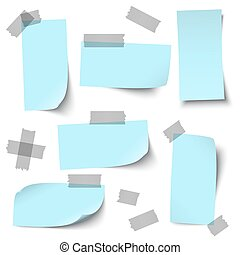 empty papers with accessories - vector of empty papers...