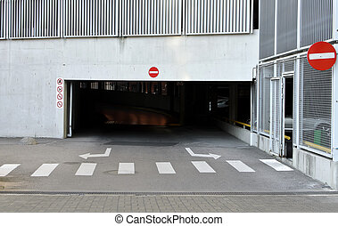 Empty parking in city center