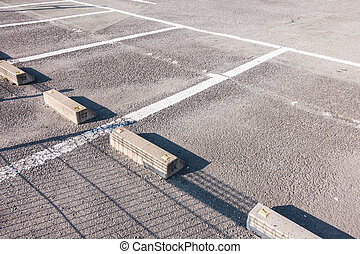 Empty parking lot in outdoor parking area