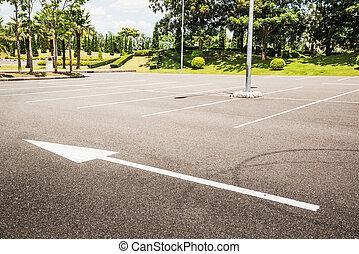Empty Parking Lot  - Empty Parking Lot