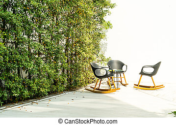 patio deck and chair