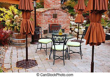 Empty patio