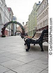 pedestrian street in the city center