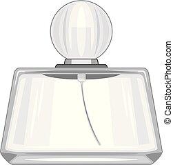 Empty perfume vial. Vector illustration