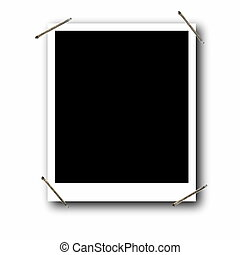 photo frame with staples - Empty photo frame with staples,...