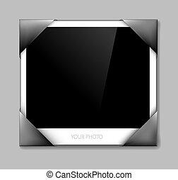 Empty photo in photo holder - vector illustration