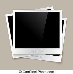 Empty photos vector illustration
