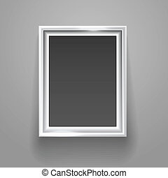 Empty picture frame on the wall template