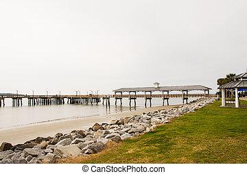 Empty Pier in Winter