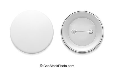 empty pin badge template blank white round pin graphic design
