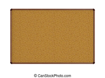 Empty Pinboard isolated on white background. 3d render