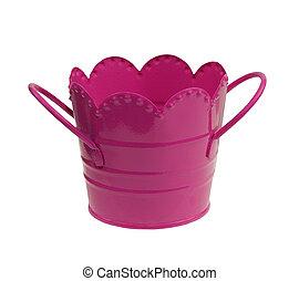 pink childs metal bucket