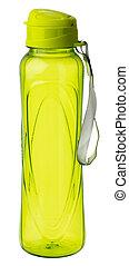 Empty plastic bottle for drinks isolated on white