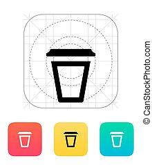 Empty plastic cup icon.