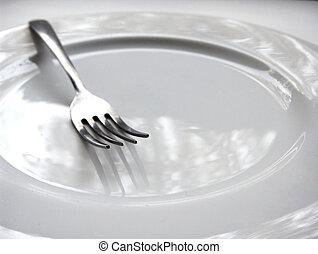 Empty Plate - Fork macro on plate