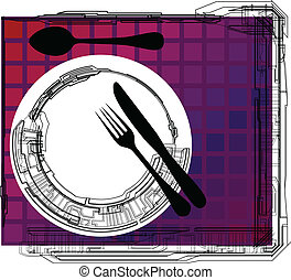 Empty plate illustration