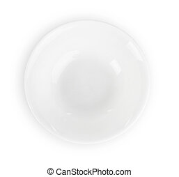 Empty plate isolated on a white
