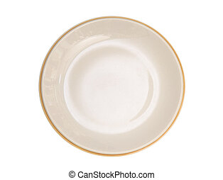 Empty plate isolated on a white background , clipping path