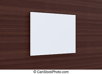 Empty plate on a wooden wall. 3D-rendering