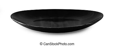 empty plate on white background.