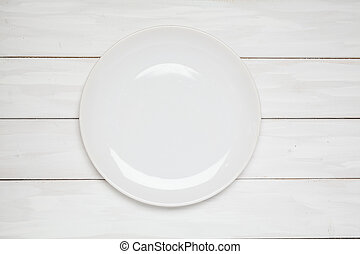 Empty plate top view on