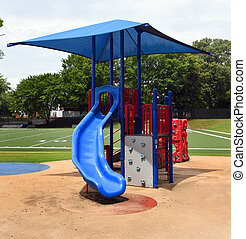 Empty Playground at School