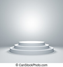 Empty podium - Empty illuminated podium